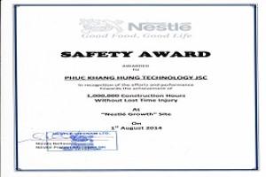 Safety Award – Nestle Project